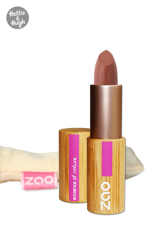 Zao Organic Matt Lipstick 467 Dark Nude at Hattie & Hugh