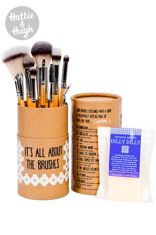 Bathing Beauty 'It's All About The Brushes' Makeup Brush Set and Soap