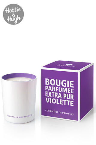 Compagnie De Provence Candle in Sweet Violet with Box
