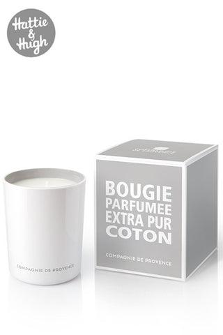 Compagnie De Provence Candle in Cotton Flower with Box