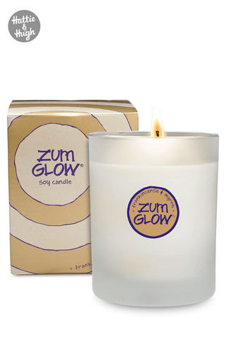 Zum Glow All Natural Candle in Frankincense & Myrrh at Hattie & Hugh UK