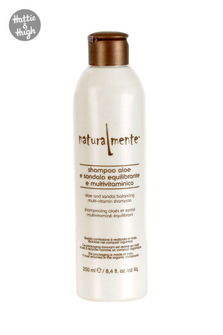 Naturalmente Aloe and Sandalwood Shampoo 250ml