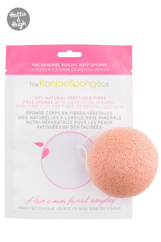 Konjac French Pink Clay Facial Puff Sponge
