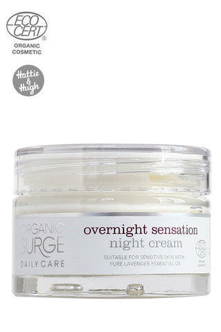 Organic Surge Overnight Sensation Night Cream at Hattie & Hugh