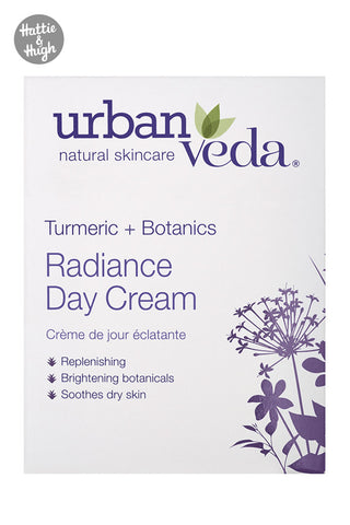 Urban Veda Radiance Day Cream Packaging at Hattie & Hugh