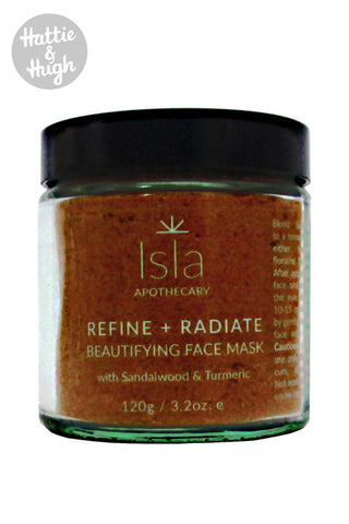 Isla Apothecary Refine + Radiate Beautifying Face Mask 120g