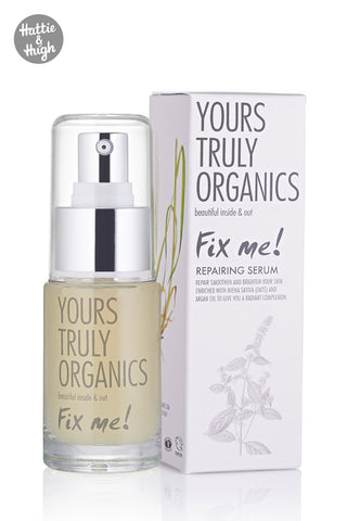 Yours Truly Organics Fix Me! Repairing Serum at Hattie & Hugh