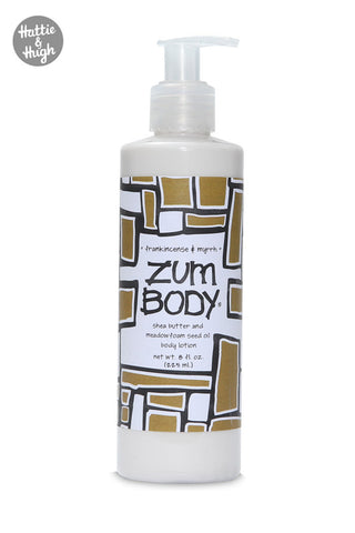 Zum Body Shea Butter Body Lotion in Frankincense & Myrrh at Hattie & Hugh