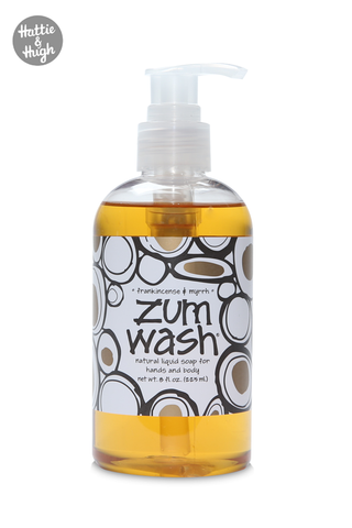 Zum Wash Shower Gel and Hand Wash in Frankincense & Myrrh 225ml at Hattie & Hugh