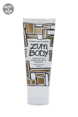 Zum Body Shea Butter Body Lotion Tube in Frankincense & Myrrh 59ml at Hattie & Hugh