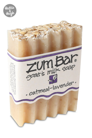Zum Bar Soap in Oatmeal-Lavender at Hatte & Hugh angled