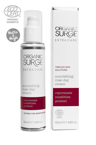 Organic Surge Nourishing Rose Day Cream with Damask Rose Oil at Hattie & Hugh