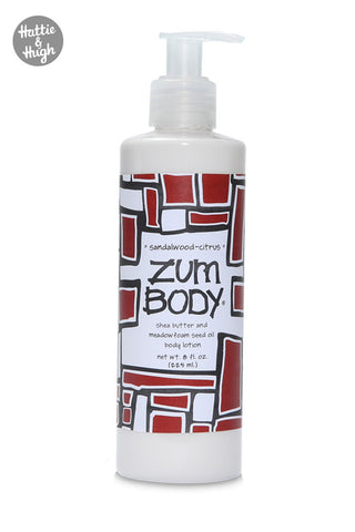 Zum Body Shea Butter Body Lotion in Sandalwood-Citrus at Hattie & Hugh