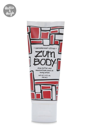 Zum Body Shea Butter Body Lotion Tube in Sandalwood-Citrus 59ml at Hattie & Hugh