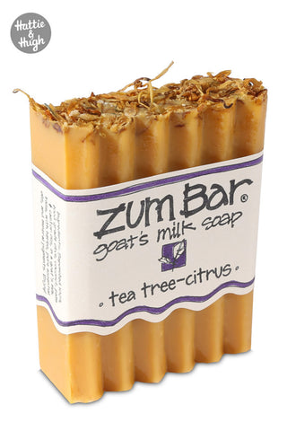 Zum Bar Soap in Tea Tree-Citrus at Hattie & Hugh angled