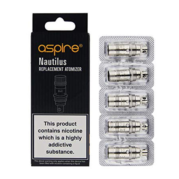 Genuine Aspire Nautilus BVC 0.7, 1.6 & 1.8Ω Replacement Coil