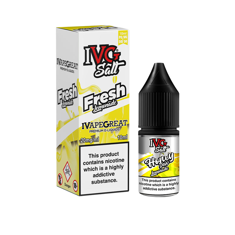 IVG Nic Salt 10 x 10ml Bottle 10mg | 20mg Strength VG/PG 50/50 All Flavors
