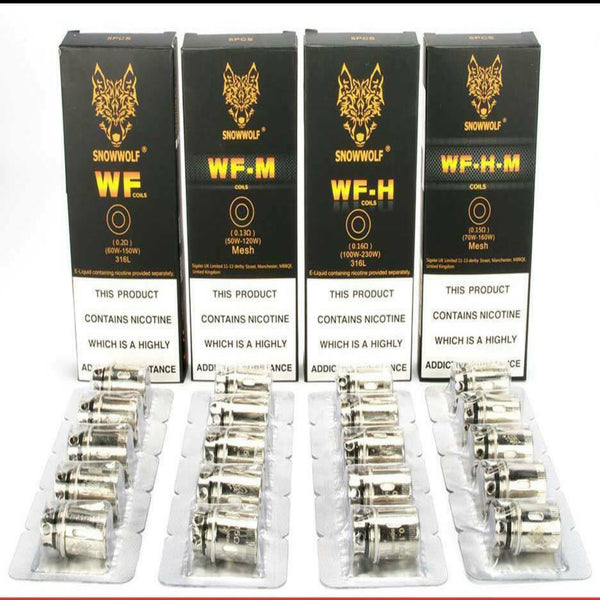 Snowwolf WF | WF-H | WF-M | WF-H-M Replacement Coils