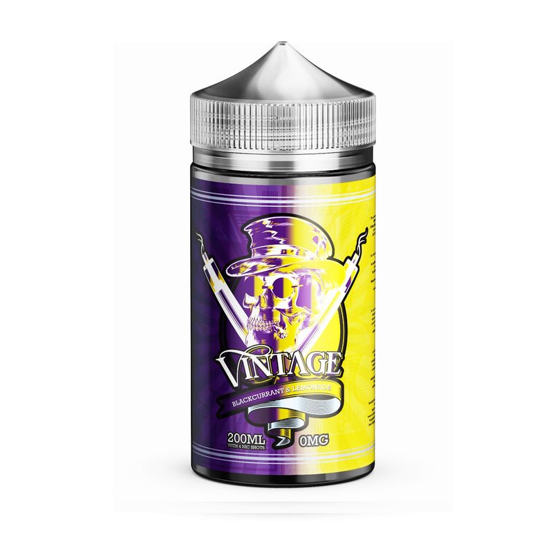 Vintage 200ml e liquid Black current Lemonade