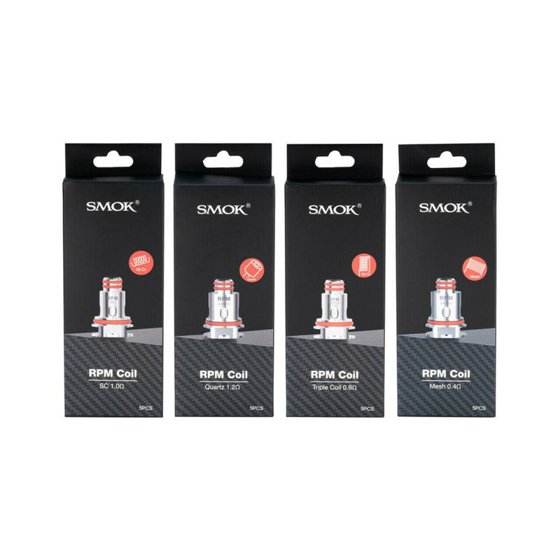 Genuine SMOK RPM40 Replacement Coils | Mesh | Triple | Quartz | SC | 5 x Pack