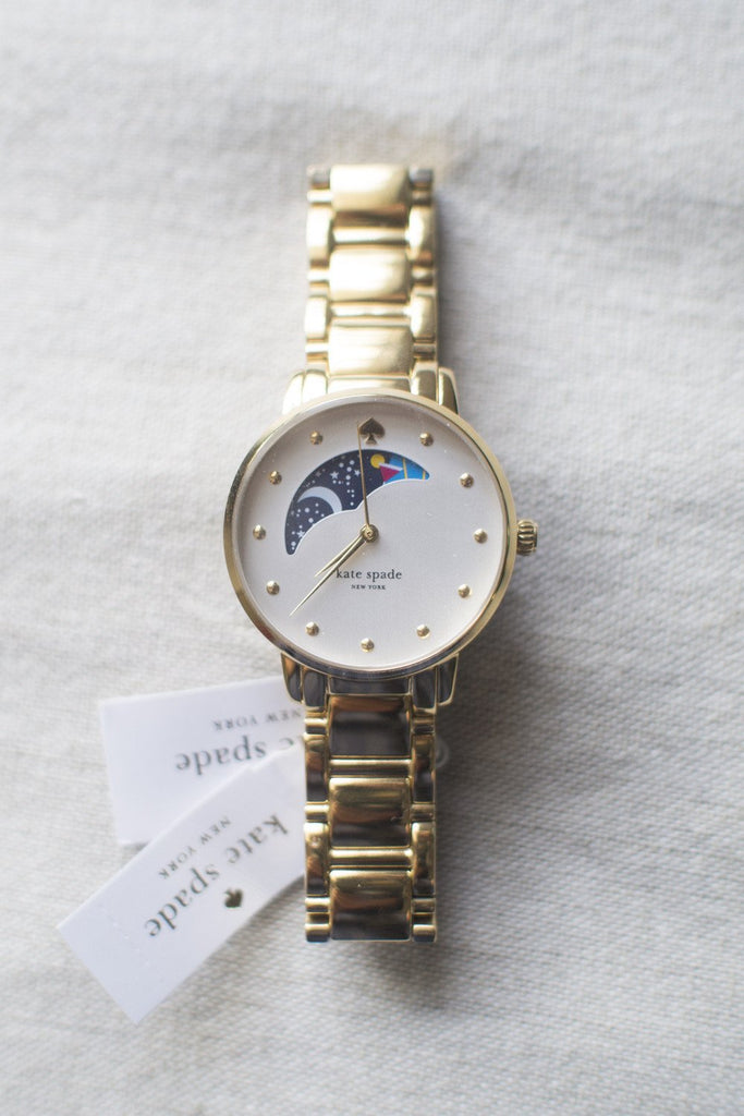 Kate Spade Gramercy Moonphase Watch (Chain Strap)