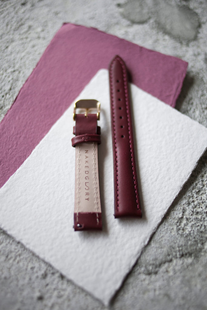 Red Wine Leather Strap (16mm/Midi)