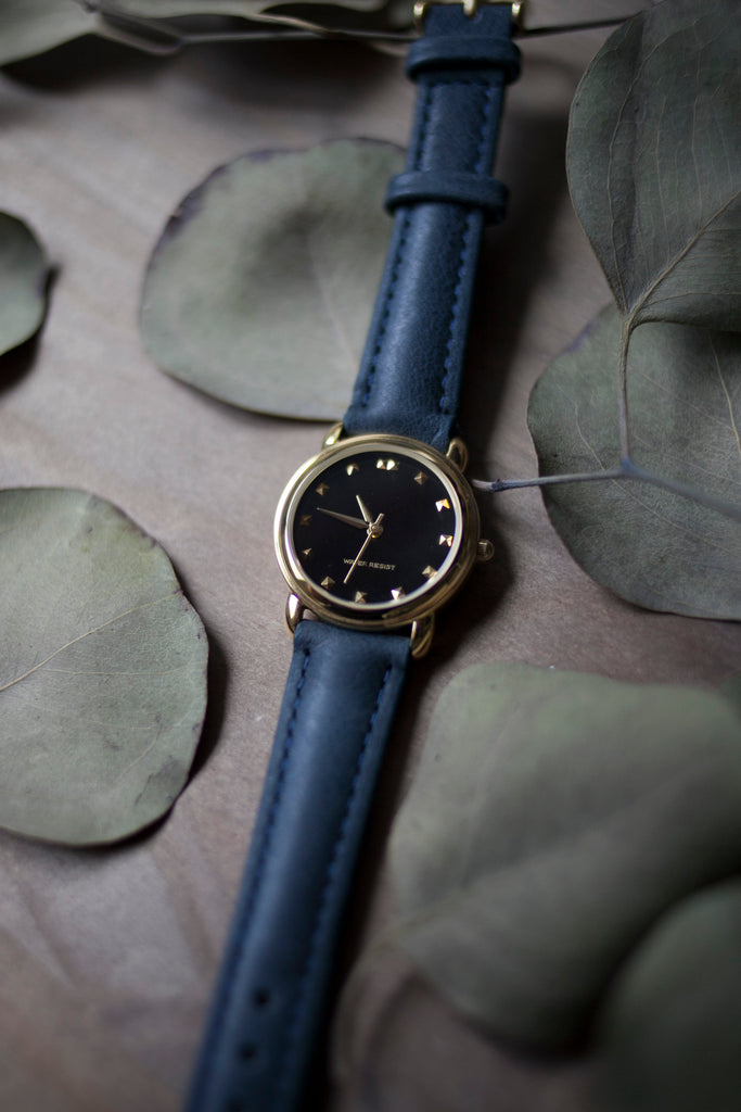 Navy Leather Strap (16mm/Midi)