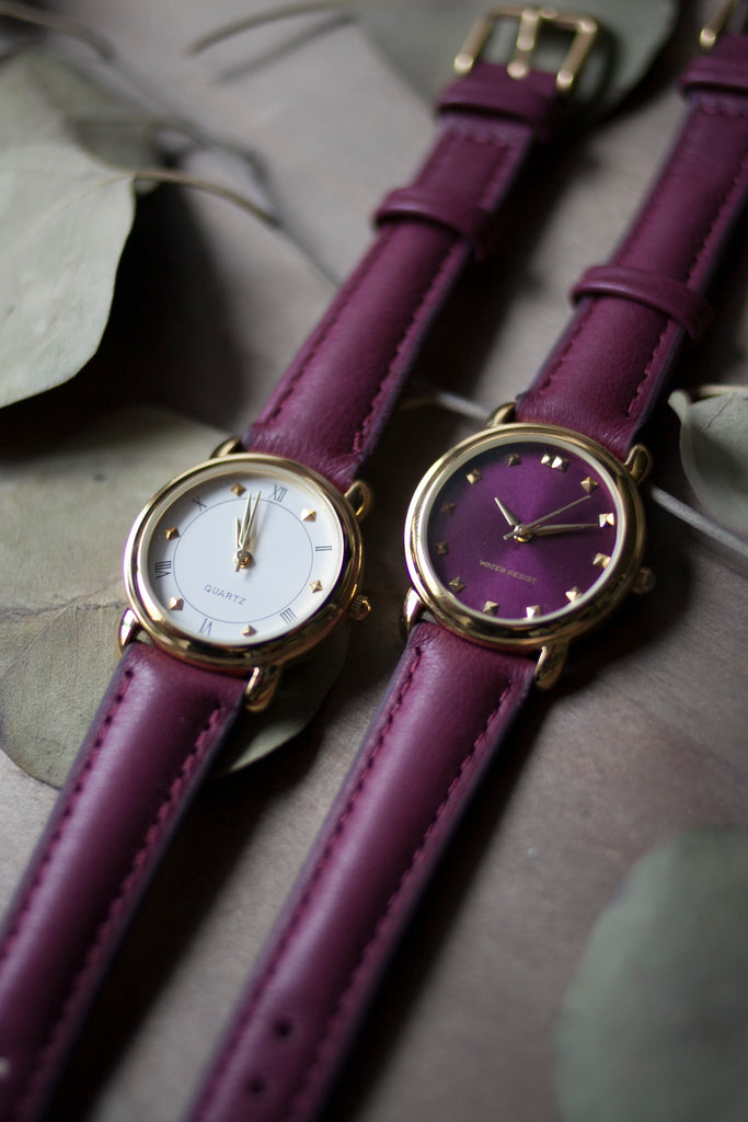 Berry Leather Strap (16mm/Midi)