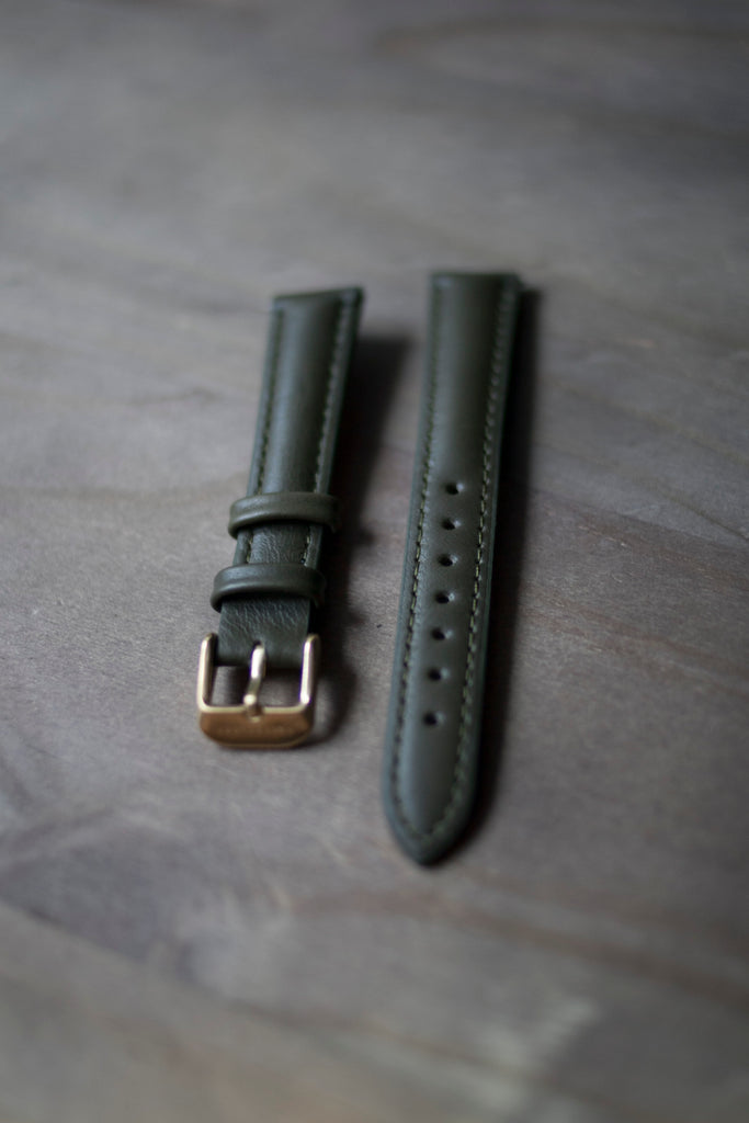 Olive Leather Strap (16mm/Midi)
