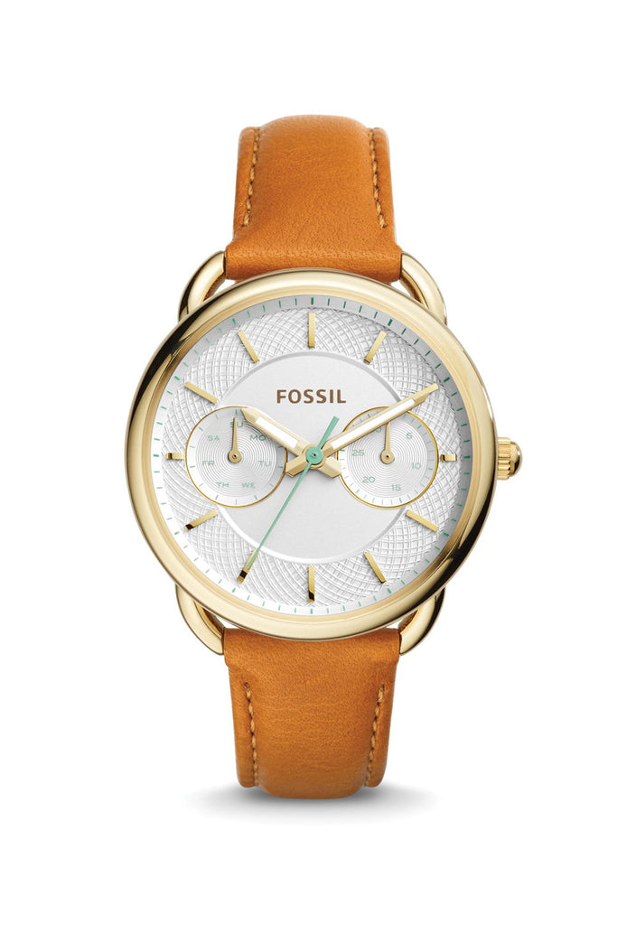 Fossil Tailor Multifunction Watch (Silver/Tan)