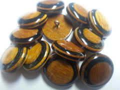 Multi-Color Wood Buttons  -- Prices shown are per dozen