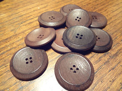 Stained Wood Buttons & Toggles -- Prices shown are per dozen