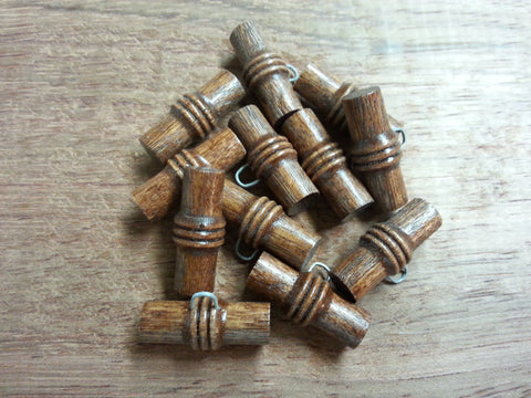 "Wood-""Bamboo"" Toggle #136 - 3/4"" & 1"" - Price is for 12 Pieces"