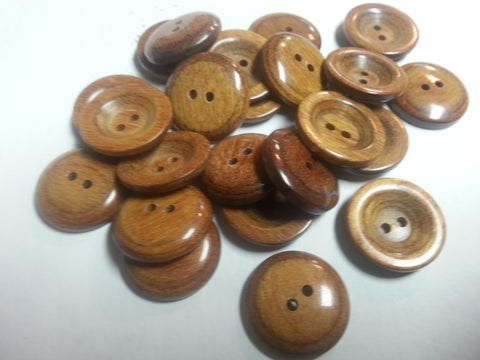 "Laminated wood button-Cup Style With Small Well  # 4158 7/8""  Price is for 12 Pieces"