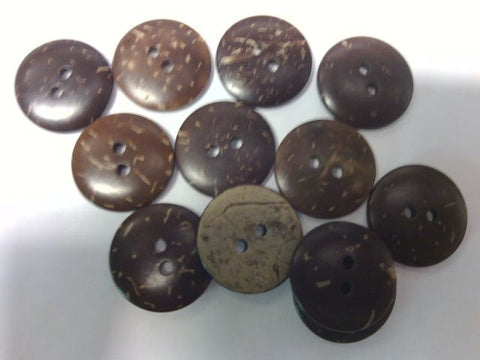 "Coconut Button # COCO30   Sizes: 1/2""  5/8""  3/4""  7/8""  1 1/8""......  Price for 12 Pieces"