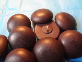 "Wood Hi Dome/Half Ball Brown - 1 1/8""  Price is for 12 Pieces"