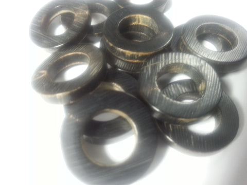 "REAL HORN RINGS   Size 7/8""    ....Price is for 12 Pieces"