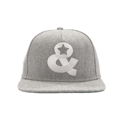 Ampersand Icon Snapback(Heather Grey) - SOLD OUT