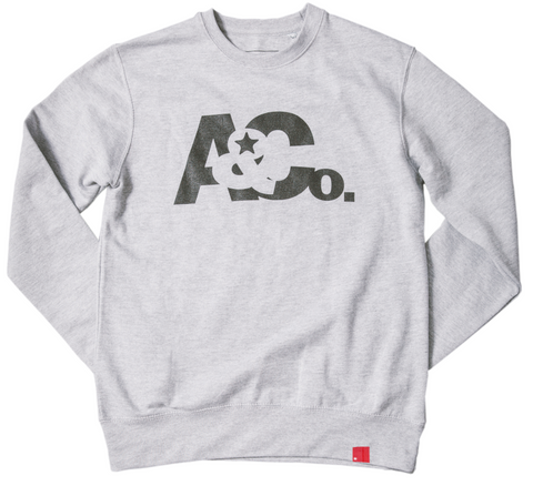 A&Co. Logo Crewneck(Heather Grey)