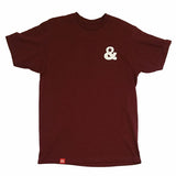 Ampersand Logo T-Shirt(Burgundy)