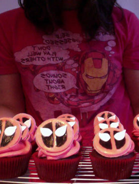 Gabriela's Iron Man Tee While Baking