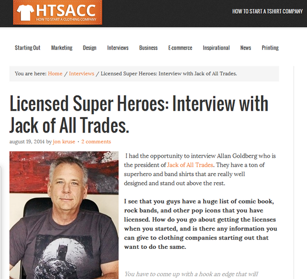 Awesome Interview with the Owner at Jack of all Trades!