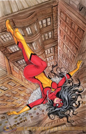 Axel Alonso - editor in chief at Marvel - explains everything about Spider Woman #1 cover!