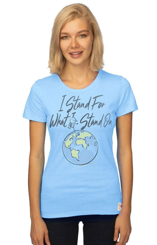 I Stand For What I Stand On Organic Fine Tee