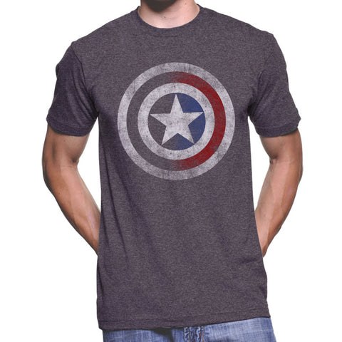 Marvel Capt America Vintage Shield T-Shirt