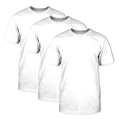 Classic Fit Crew Neck 3 Pack: White