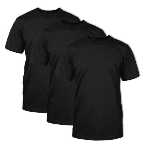 Classic Fit Crew Neck 3 Pack: Black