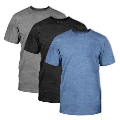 Triblend Classic Fit Crew Neck T-Shirt 3 Pack