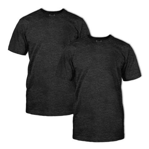 Triblend Classic Fit Crew Neck T-Shirt 2 Pack: Onyx