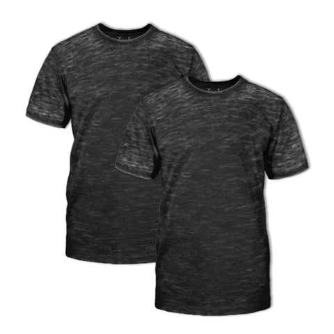Burnout Crew Neck T-Shirt 2 Pack: Black H